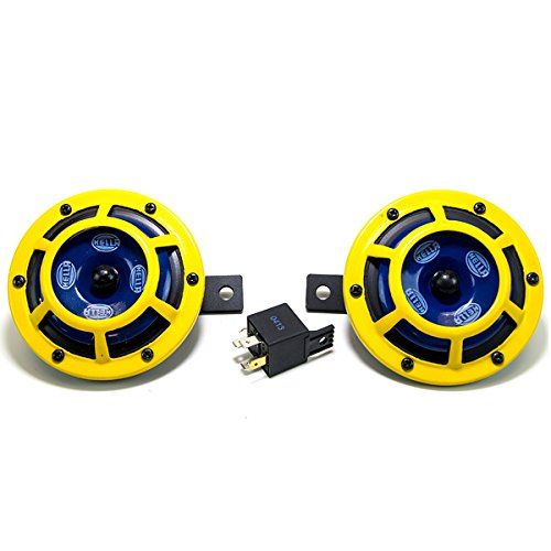 Hella-H31000001-114dB-12V-Universal-Sharptone-Panther-Dual-Horn-Kit-Yellow-0-0