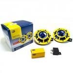 Hella-H31000001-114dB-12V-Universal-Sharptone-Panther-Dual-Horn-Kit-Yellow-0