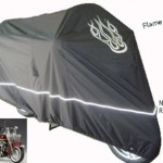 High-Quality-Harley-Davidson-Motorcycle-Cover-Cable-and-Lock-Flame-Emblem-0