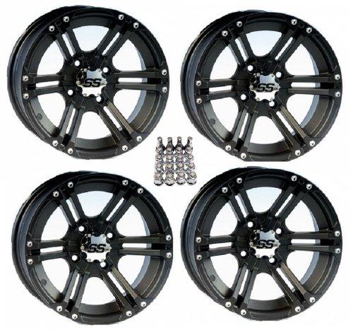 ITP-SS212-ATV-WheelsRims-Black-12-Honda-Rincon-Yamaha-Rhino-Kawasaki-Brute-Force-Suzuki-KingQuad-4-0