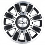 Ion-Alloy-Dually-166-Matte-Black-Wheel-with-Machined-Face-16x68x170mm-0-0