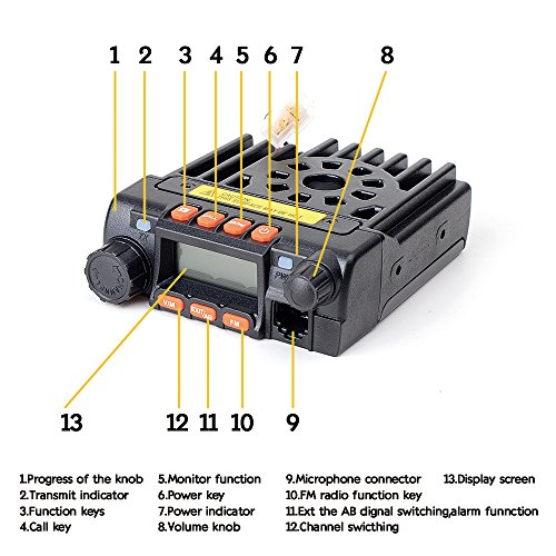 Juentai-JT-6188-Dual-Band-VHFUHF-136-174400-480MHz-VHF-25Watt-UHF-20Watts-Dual-Band-Two-Way-Radios-Mobile-Transceiver-Walkie-Talkie-with-Programming-Cable-0-0