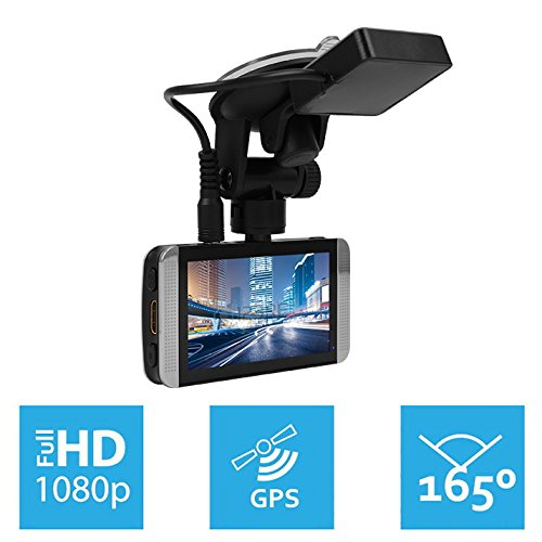 KDLINKS-X1-Full-HD-19201080-165-Wide-Angle-Car-Dashboard-Camcorder-with-GPS-G-Sensor-WDR-Superior-Night-Mode-0-0