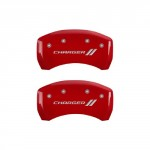 MGP-Caliper-Covers-12181SCH1RD-Charger-ll-Engraved-Caliper-Cover-with-Red-Powder-Coat-Finish-and-Silver-Characters-Set-of-4-0-0