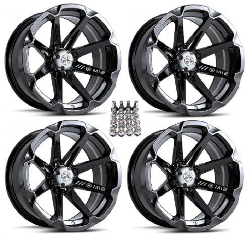 MSA-M12-Diesel-ATV-WheelsRims-Black-14-Honda-Rincon-Yamaha-Rhino-Kawasaki-Brute-Force-Suzuki-KingQuad-4-0