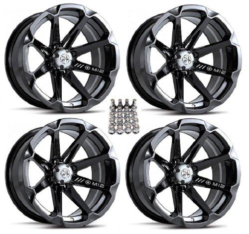 MSA-M12-Diesel-ATV-WheelsRims-Black-14-Polaris-Sportsman-XP-550-850-4-0