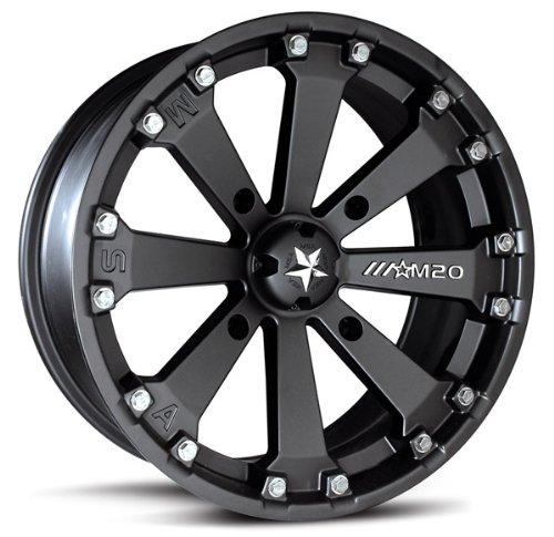 MSA-M20-Kore-ATV-WheelsRims-Black-14-Honda-Rincon-Yamaha-Rhino-Kawasaki-Brute-Force-Suzuki-KingQuad-4-0-0