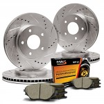 Max-KT009233-Front-Rear-Premium-Slotted-Drilled-Rotors-and-Ceramic-Pads-Combo-Brake-Kit-F-320mm-R-308mm-0