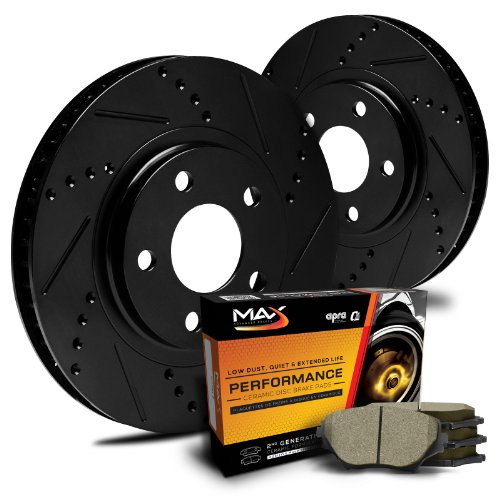 Max-KT015381-ELITE-SERIES-Front-Performance-Slotted-Cross-Drilled-Rotors-and-Ceramic-Pads-Combo-Brake-Kit-0