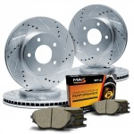 Max-KT032113-Front-Rear-Silver-Slotted-Cross-Drilled-Rotors-and-Ceramic-Pads-Combo-Brake-Kit-Excl-GT-Bullitt-Models-0