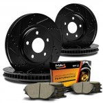 Max-KT053283-ELITE-SERIES-Front-Rear-Performance-Slotted-Cross-Drilled-Rotors-and-Ceramic-Pads-Combo-Brake-Kit-0