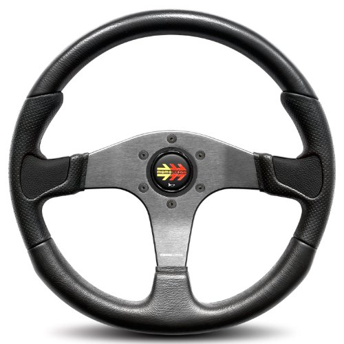 Momo-DEV35BK0B-Devil-350-mm-Urethane-Steering-Wheel-0