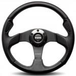 Momo-JET35BK0B-Jet-Black-350-mm-Leather-Steering-Wheel-0