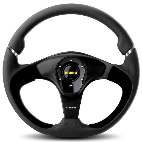 Momo-NER35BK0B-Nero-350-mm-Leather-Steering-Wheel-0
