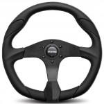 Momo-QRK35BK0B-Quark-Black-350-mm-Urethane-Steering-Wheel-0