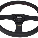 Momo-TUN35BK0B-Tuner-Black-350-mm-Leather-Steering-Wheel-0