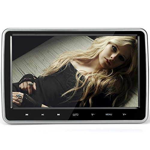 NAVISKAUTOTM-101-Inch-TFT-LCD-Wide-Digital-Screen-Universal-Car-Headrest-DVD-Player-Multimedia-Monitor-with-Remote-Control-Black-0