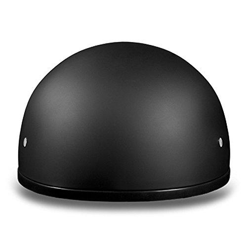 New-Slim-Line-Daytona-Helmets-Skull-Cap-Style-Motorcycle-Helmet-Half-12-Shell-Helmet-DOT-Approved-DULL-BLACK-Smallest-DOT-12-Shell-Helmet-Ever-Made-More-Oval-Than-Round-Helps-Eliminate-That-Mushroom-L-0-0