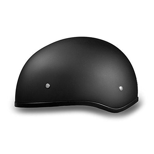 New-Slim-Line-Daytona-Helmets-Skull-Cap-Style-Motorcycle-Helmet-Half-12-Shell-Helmet-DOT-Approved-DULL-BLACK-Smallest-DOT-12-Shell-Helmet-Ever-Made-More-Oval-Than-Round-Helps-Eliminate-That-Mushroom-L-0-1