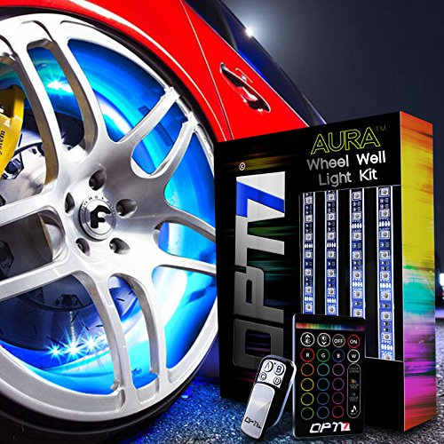 OPT7-3-Into-1-AuraColor-Wheel-Well-LED-Kit-4pc-Complete-24-All-Color-Strips-wSoundSync-0
