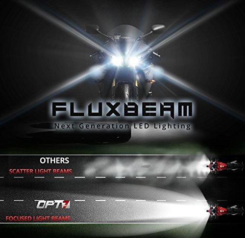 OPT7-Motorcycle-LED-Headlight-w-Arc-Beam-Clear-Beam-3500Lm-Crystal-White-6K-CREE-0-0