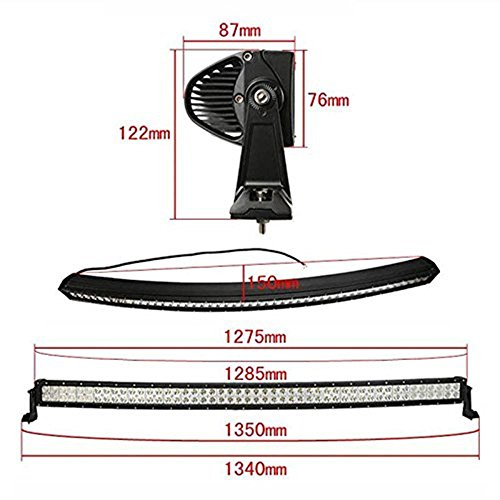 Penton-288w-50-Inch-10v-30v-Curved-LED-Light-Bar-LED-Work-Light-Flood-Spot-Combo-Beam-96-Leds-for-4wd-AWD-Off-road-Offroad-Truck-Pickup-Pick-up-4×4-Car-4×4-ATV-4wd-SUV-UTE-with-Wiring-Harness-and-Moun-0-1
