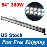 Penton-300w-54-Inch-Led-Light-Bar-Work-Lights-Flood-Spot-Combo-Beam-30000-Lumen-3w100-Pcs-Leds-Waterproof-for-4wd-Jeep-SUV-UTE-Offroad-Truck-ATV-UTV-0
