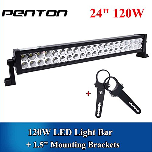 PentonTM-120w-24-Inch-Led-Light-Bar-Work-Lights-Flood-Spot-Combo-Beam-Waterproof-10v-30v-3w40-12000-Lumen-for-4wd-SUV-UTE-Offroad-Truck-ATV-UTV-0