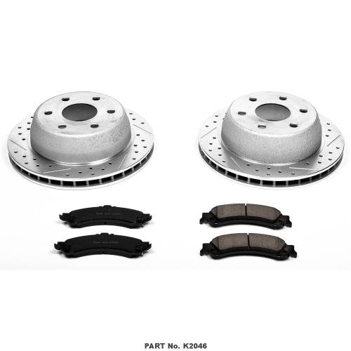 Power-Stop-K2046-Rear-Ceramic-Brake-Pad-and-Cross-DrilledSlotted-Combo-Rotor-One-Click-Brake-Kit-0