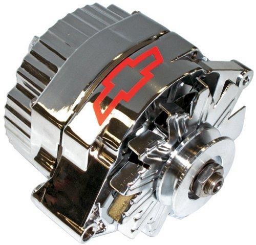 ProForm-141-657-GM-Chrome-w-Red-Bowtie-100-Amp-1-Wire-Alternator-with-Internal-Regulator-0