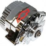 ProForm-141-659-GM-Chrome-w-Red-Bowtie-80-Amp-1-Wire-Alternator-0