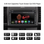 Pumpkin-695-Android-44-Universal-In-Dash-HD-Touch-Screen-Car-DVD-Player-Double-Din-GPS-Navigation-Stereo-AM-FM-Radio-Support-SDUSBBluetooth3GWifiOBD21080P-With-Microphone-and-Backup-Camera-0-1