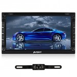 Pumpkin-695-Android-44-Universal-In-Dash-HD-Touch-Screen-Car-DVD-Player-Double-Din-GPS-Navigation-Stereo-AM-FM-Radio-Support-SDUSBBluetooth3GWifiOBD21080P-With-Microphone-and-Backup-Camera-0
