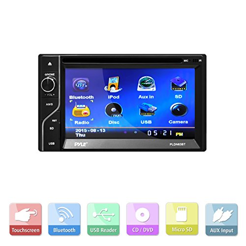 Pyle-PLDN63BT-Double-DIN-Bluetooth-Touch-Screen-CDDVD-Player-0-0