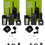 QTY-2-Motorola-RMU2080-UHF-2-watt-8-channel-radio-and-Surveillance-Headset-0