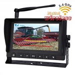 Rear-View-Backup-Camera-System-7-Digital-Wireless-Split-LCD-Monitor-with-Two-Wireless-Waterproof-Ir-Color-Cameras-for-Excavator-Cement-Truck-Farm-Tractor-Trailer-5th-Wheel-Rv-Camper-Heavy-Truck-0-0