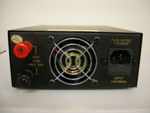 Regulated-30-Amp-Compact-Power-Supply-138Vdc-w-Volt-Amp-Meter-0-0
