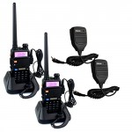 Retevis-RT-5R-2-Way-Radio-5W-128CH-UHFVHF-136-174400-520-MHz-Dual-Band-Dual-Standby-DTMFCTCSSDCS-FM-Transceiver-with-Earpiece-Ham-Amateur-Radio-Walkie-Talkie-2-Pack-and-Speaker-Mic-2-Pack-0
