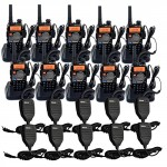 Retevis-RT-5RV-2-Way-Radio-5W-128CH-VHFUHF-136-174400-520-MHz-VOX-DTMFCTCSSDCS-FM-Transceiver-with-Earpiece-10-Pack-and-Speaker-Mic-10-Pack-0