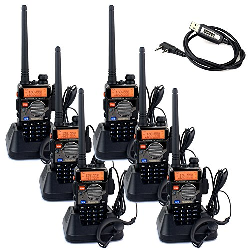 Retevis-RT-5RV-2-Way-Radio-HT-Transceiver-5W-128CH-VHFUHF-136-174400-520-MHz-CTCSSDCS-Dual-Band-FM-with-Earpiece6-Pack-and-Programming-Cable-0