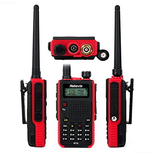 Retevis RT5 2 Way Radio 5W Dual Band VHF/ UHF 136-174/400-520 MHz 128  Channel Scan VOX FM Radio Flashlight Walkie Talkies Ham Radio Transceiver  (2