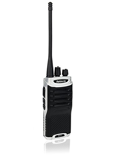 Retevis-RT7-Two-Way-Radio-FRS-UHF-400-470MHz-16-Channels-FM-Radio-with-Earpiece-Silver-Black-Border5-Pack-and-Speaker-Mic-5-Pack-and-Programming-Cable-0-1