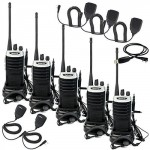 Retevis-RT7-Two-Way-Radio-FRS-UHF-400-470MHz-16-Channels-FM-Radio-with-Earpiece-Silver-Black-Border5-Pack-and-Speaker-Mic-5-Pack-and-Programming-Cable-0