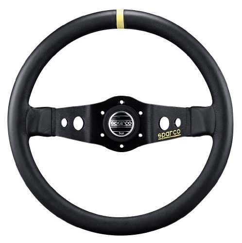 Sparco-015R215CLN-Leather-Steering-Wheel-0