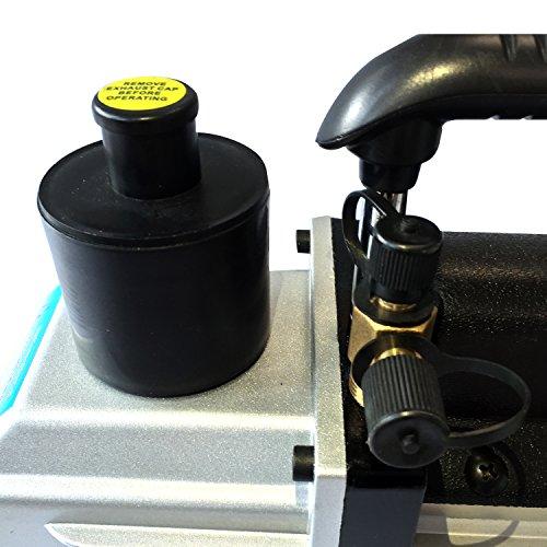 Tenive-5-CFM-Double-Stage-Rotary-Vane-Economy-Vacuum-Pump-Black-0-1