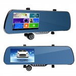 ToguardTM-5-Touch-Screen-Android-Parking-Display-Car-Dash-Cam-Dashboard-Camera-Dual-lens-DVR-GPS-Navigation-WiFi-Rearview-Mirror-Night-vision-G-sensor-Motion-Detection-0-1