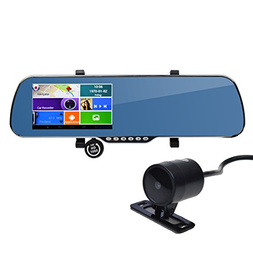 ToguardTM-5-Touch-Screen-Android-Parking-Display-Car-Dash-Cam-Dashboard-Camera-Dual-lens-DVR-GPS-Navigation-WiFi-Rearview-Mirror-Night-vision-G-sensor-Motion-Detection-0