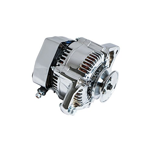 Top-Street-Performance-ES1004C-Chrome-Finish-90-Amp-Racing-Alternator-1-Wire-0-1