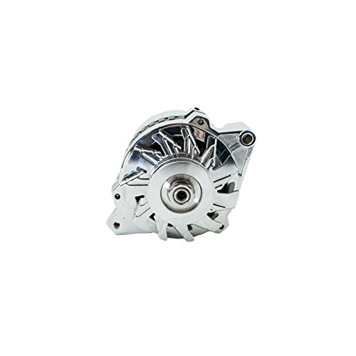 Top-Street-Performance-ES1005C-Chrome-Finish-160-Amp-Serpentine-Alternator-with-Side-Post-1-Wire-0