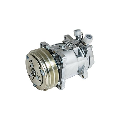 Top-Street-Performance-HC5003C-AC-Compressor-with-Silver-Clutch-Chromed-V-Belt-Sanden-508-R134A-Type-0